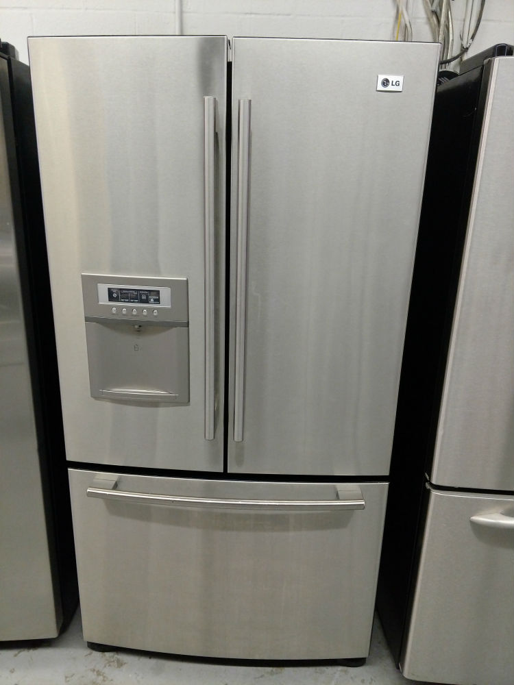 Stainless Steel Three Door Refrigerator Maryland Used Appliances