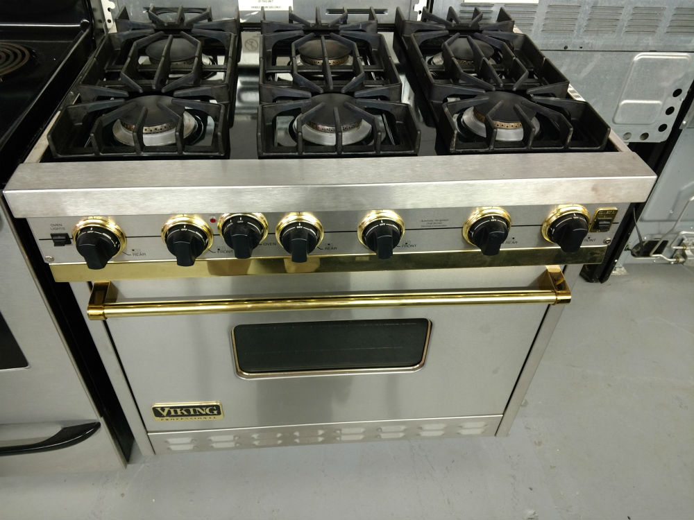 Six burner stove